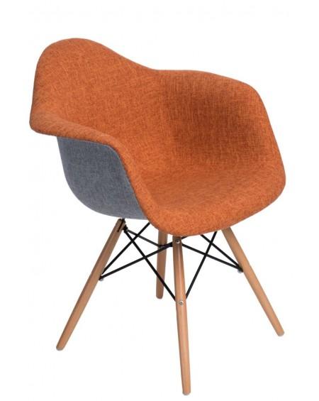 Krzesło Creatio DUO szaro-pomarańczowe