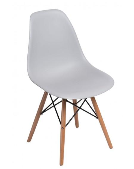 Krzesło Comet light grey Bukowe/Brązowe