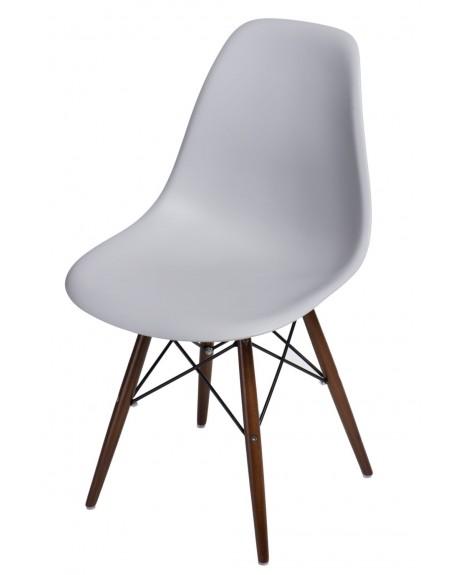 Kzesło Comet light grey bukowe/Brązowe