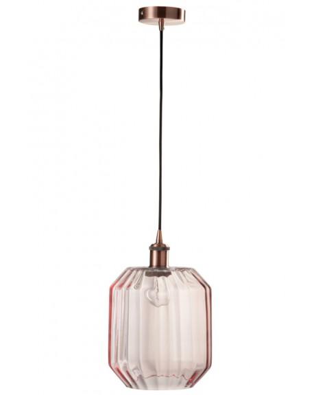 Lampa wisząca szklana Lovely Pink