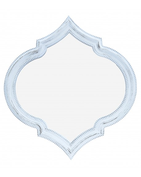 Lustro Moroccan przecierane białe