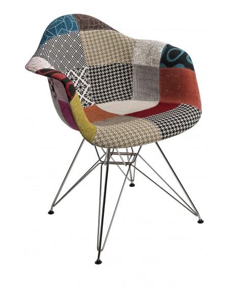 Krzesło Creatio Patchwork chrome