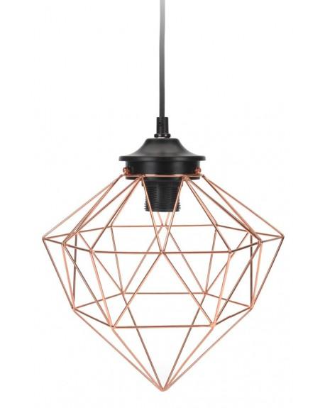 Lampa geometryczna miedziana I