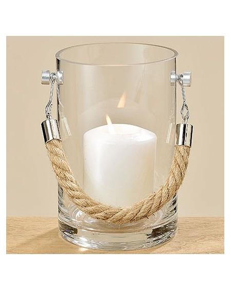 Lampion szklany ze sznurem