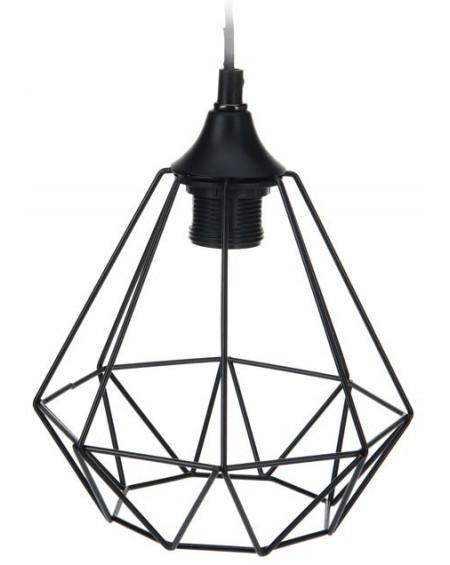 Lampa geometryczna czarna I