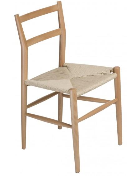 Krzesło drewniane Wiggy naturalne