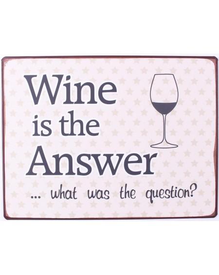 Szyld metalowy Wine is the answer