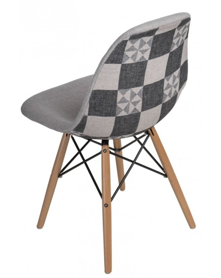 Krzesło Pattern szare-patchwork