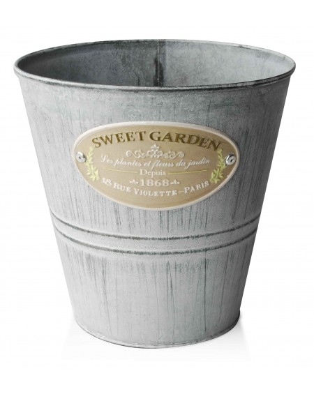Osłonka metalowa okrągła Sweet Garden