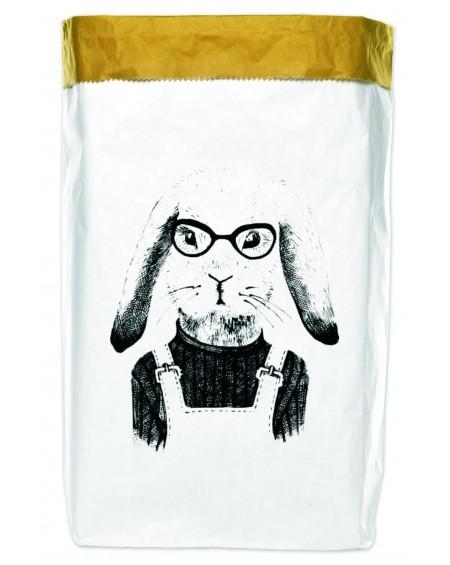Worek papierowy Hipster Rabbit 50x70
