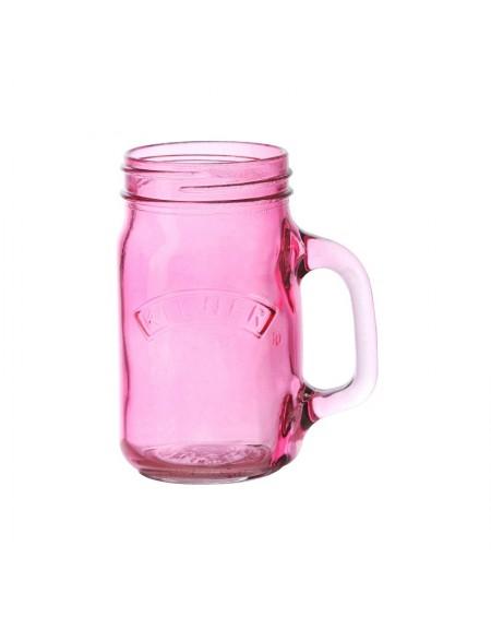 Kubek słoik Kilner różowy