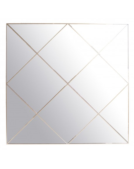 Lustro kwadratowe ze złotą linią