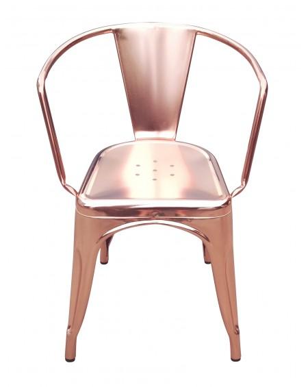 Krzesło Metalove arms copper