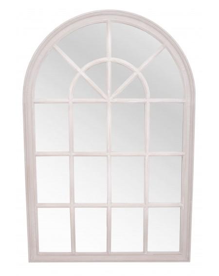 Lustro okno białe średnie
