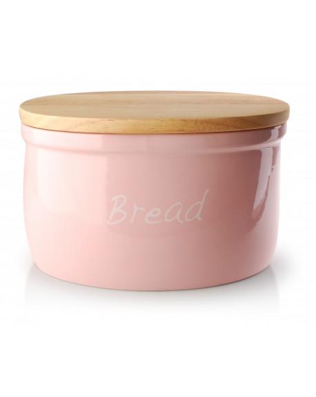 Chlebak ceramiczny Bread pudrowy