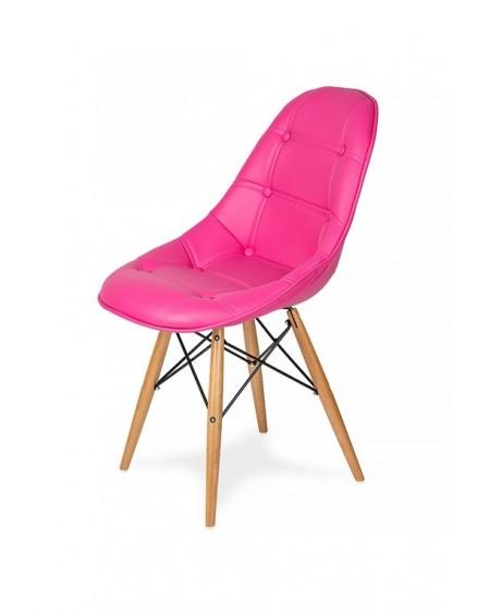 Krzesło ECO WOOD pikowane