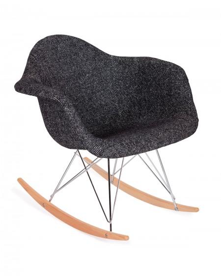 Krzesło Rubio Plush zebra czarna