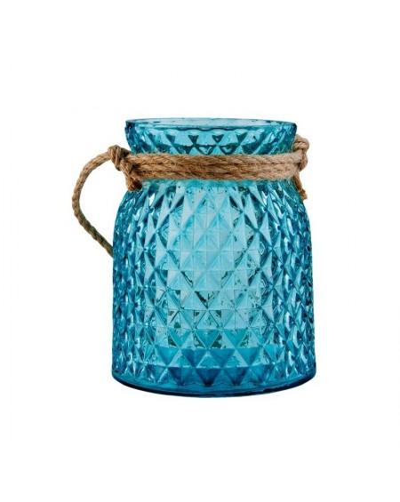 Świecznik szklany ze sznurem