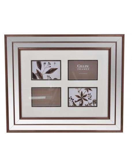 Ramka lustrzana na cztery zdjęcia