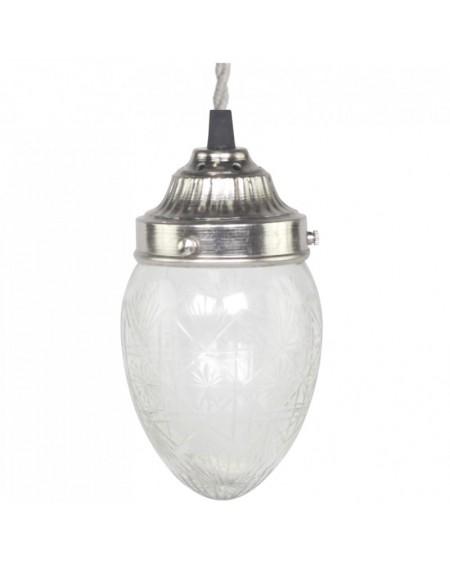 Lampa szklana owalna