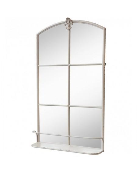 Lustro okno z półką