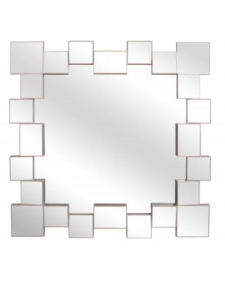 Lustro wiszące z kwadratmi