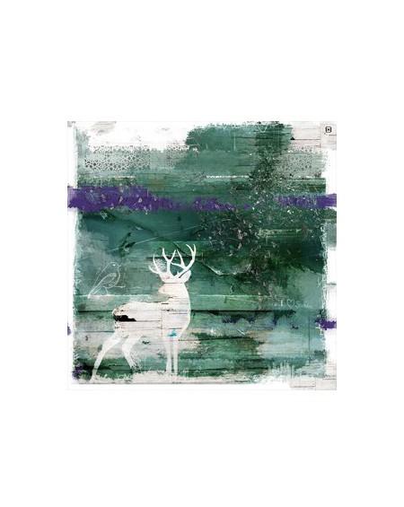 Obraz Jeleń na drewnie