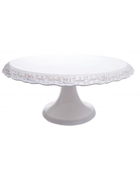Patera porcelanowa z beżowym zdobieniem