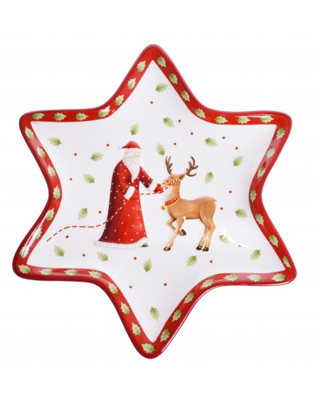 Talerz ceramiczny świąteczny z Choinką
