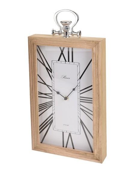Zegar stołowy drewniany