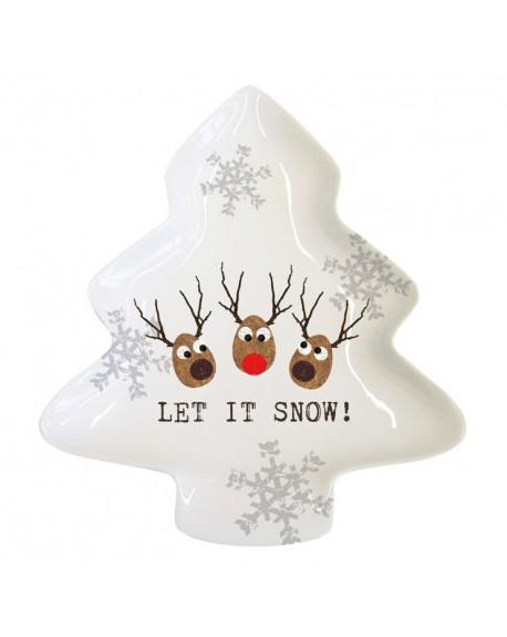 Naczynie Reindeers choinka