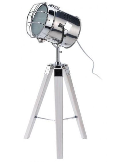 Lampa Reflektor na trzech nogach biała