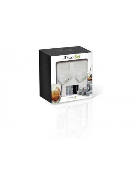 Whiskey set - 2 szklanki i kamyki chłodzące