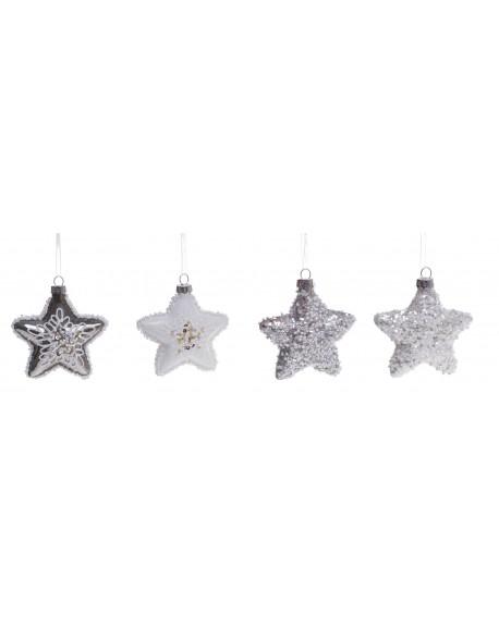 Bombka 12 szt. Sparkle Stars