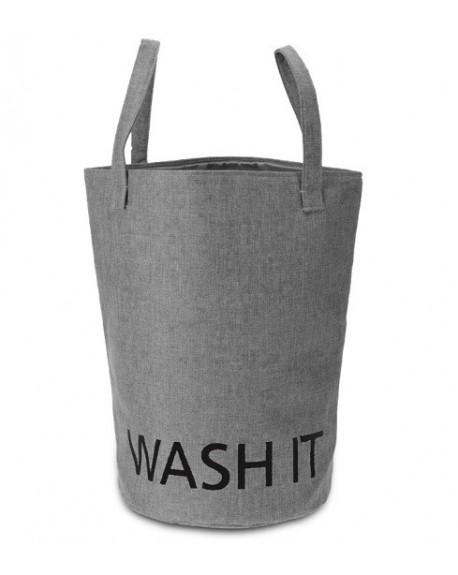 Kosz na pranie WASH IT szary