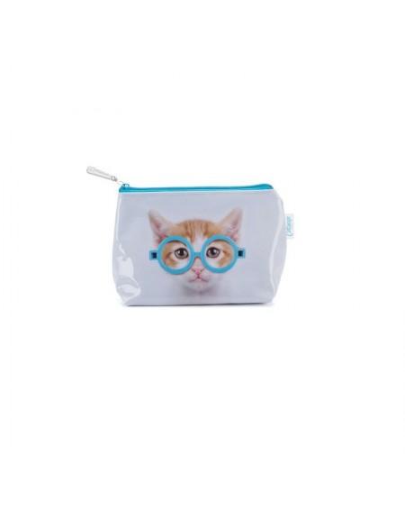Kosmetyczka kot w okularach