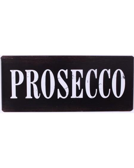 Szyld metalowy czarny PROSECCO