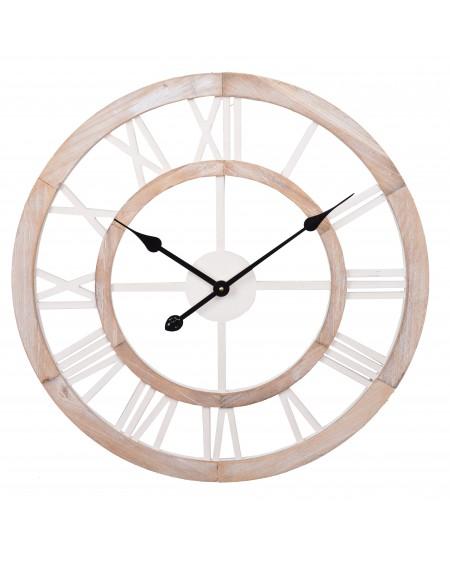 Zegar ścienny duży beż