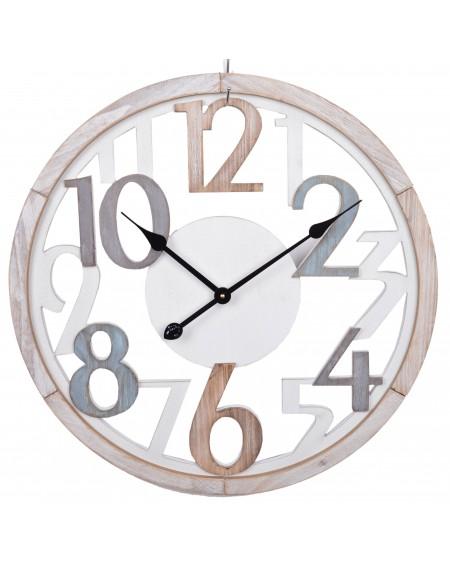 Zegar ścienny duży beżowy