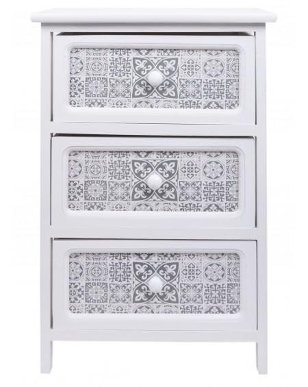 Szafka z trzema szufladami biała Mozaika
