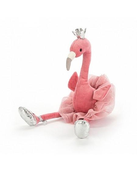 Przytulanka maskotka Flaming z koroną