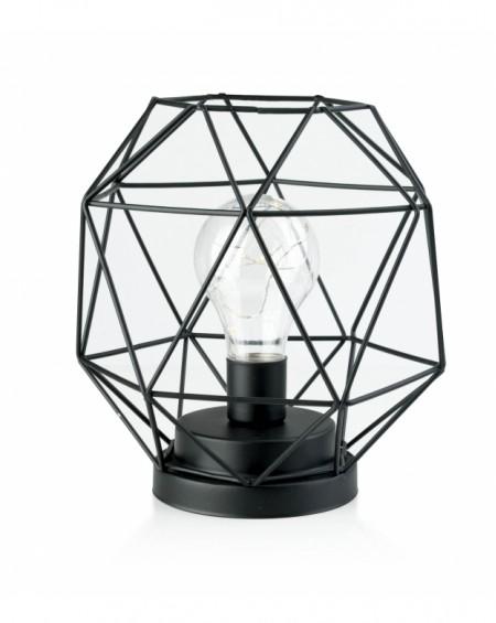 Lampion druciany z żarówką LED