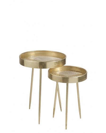 Stolik metalowy 2 szt. Antique Gold