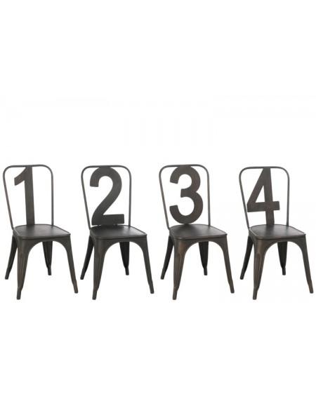 Krzesło Metalove Number kpl. 4 szt.
