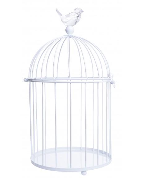Klatka ozdobna z ptaszkiem