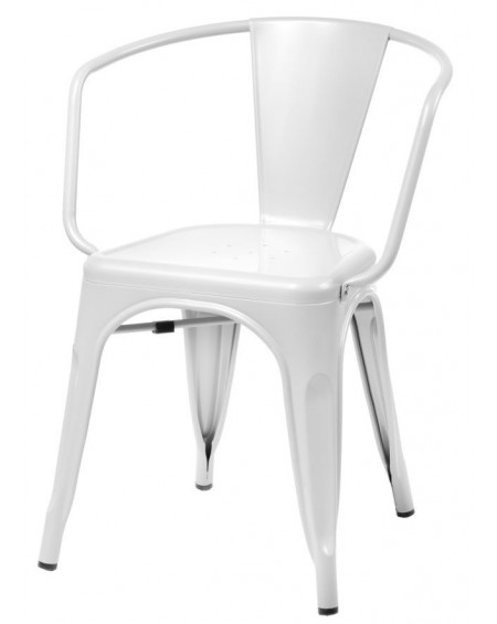 Krzesło Metalove Arms white