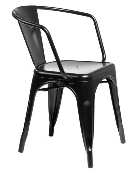 Krzesło Metalove Arms black