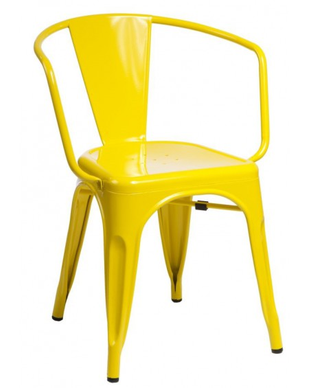 Krzesło Metalove Arms yellow