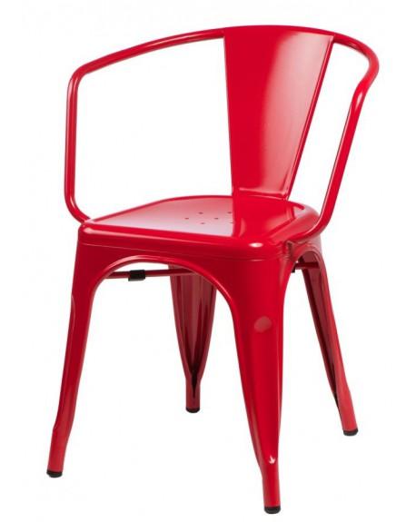 Krzesło Metalove Arms red