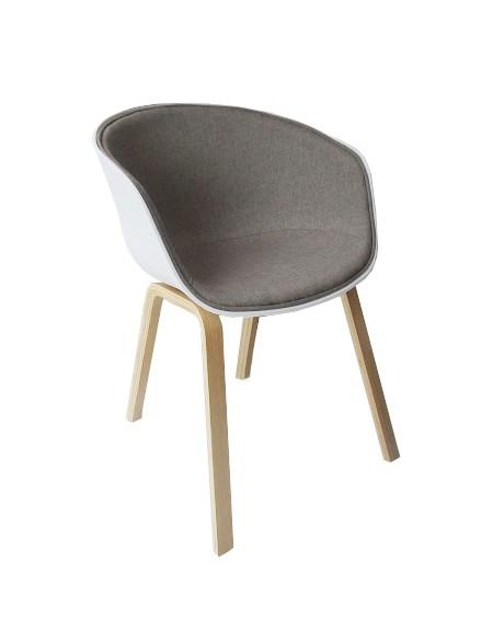Krzesło Stay szaro-biały